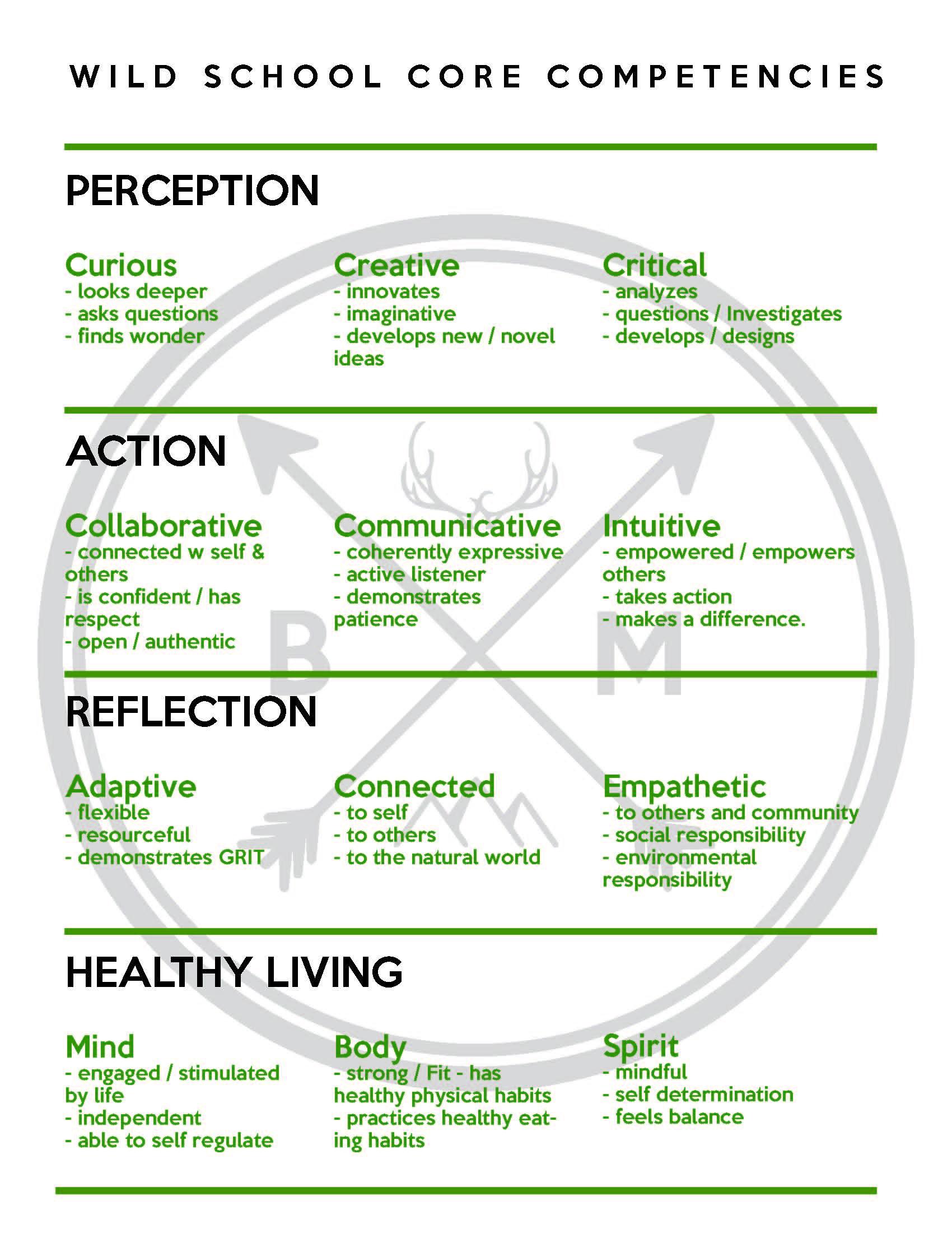 Wild School core competencies